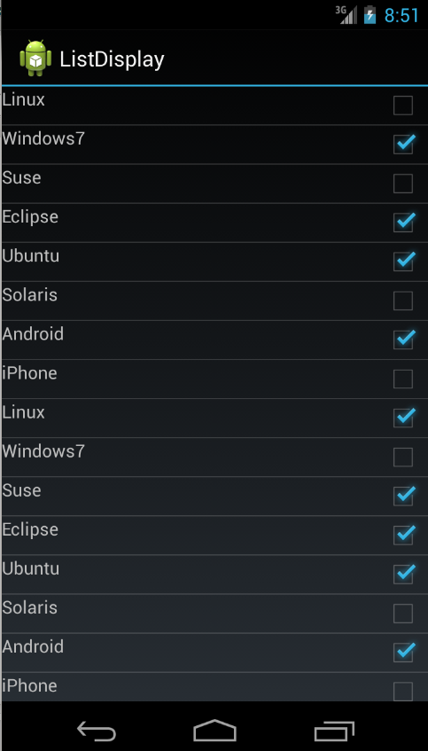 Using lists in Android wth ListView - Tutorial