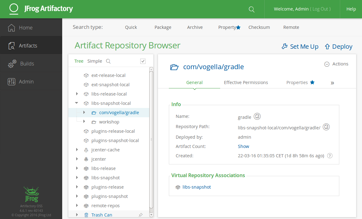 Artifactory Repository Manager - Tutorial