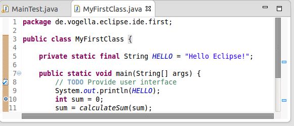 Creating your first Java project