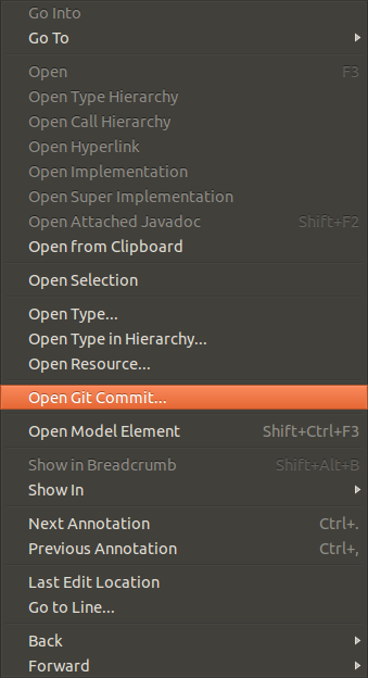 git reset to a commit