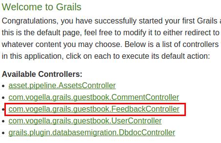 Grails Development - Tutorial