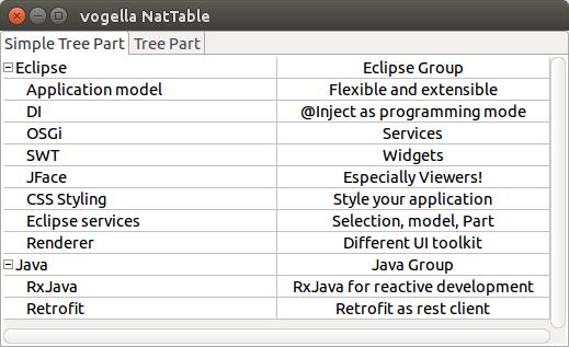 Nebula NatTable - Commands & Events - Tutorial